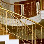 نرده استیل طلایی