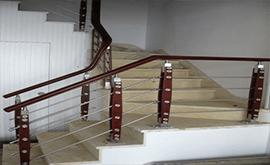 نرده استیل راه پله