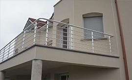 نصب نرده استیل افقی برای پشت بام