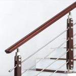 عرضه نرده استیل چهار خط چوبی طرح کلاسیک