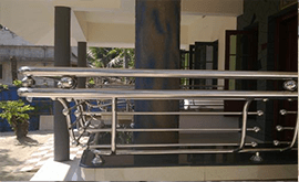 نصب نرده استیل مدرن در تراس