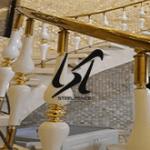 فروش نرده استیل طلایی طرح مدرن