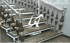 نرده استیل چوبی محافظ پله