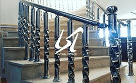 نرده استیل طلایی راه پله