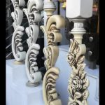 خرید نرده استیل طرح چوب مدرن از کرمان