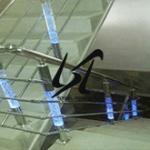 عرضه نرده استیل پلکسی چهار خط ساختمان