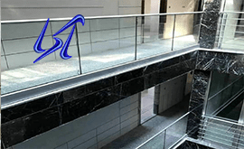 اجرای انواع نرده استیل شیشه ای