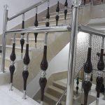 فروش پایه نرده استیل چوبی پله