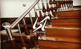 فروش نرده استیل لوکس چوبی