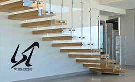 اجرای انواع نرده استیل نما در ساختمان