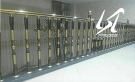 شرکت عرضه نرده استیل حصاری طرح چوب قم