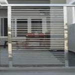 ساخت نرده استیل درب شیشه ای زنجان