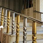 عرضه مدل نرده استیل سه خط طلایی بوشهر